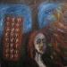 Uta Richter 1994 Autoportrait 95x95 cm mixed media