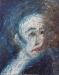 Uta Richter 1995 Blaue Serie: Café Roma  50x40 cm
