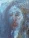 Uta Richter 1995 Blaue Serie: Eine Liebe   50x40 cm