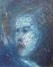 Uta Richter 1995 Blaue Serie: Kassandra  50x40 cm