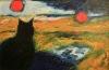 Uta Richter 1997 Zwei Sonnen   73x47 cm