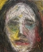 Uta Richter 1998 dunkles Portrait Sombre 30x25 cm