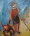 Uta Richter 1999 Minotauruskind 70x50 cm