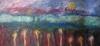 Uta Richter 1999 Paysage avec deux soleils 50x70 cm