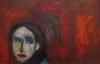 Uta Richter 1999 Selbstporträt 50x70 cm