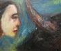 Uta Richter 1997 l'oil du front 50x70 cm
