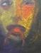 Uta Richter 2000 Frosch im Hals  50x40 cm
