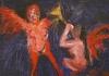 Uta Richter 2002   Phönix und Posaunenengel 21x29,5 cm