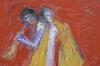 Uta Richter 2003 Orpheus und Eurydike 24x36 cm
