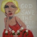 Alice in Wonderland-God save the red queen  95x95cm mixed media/
